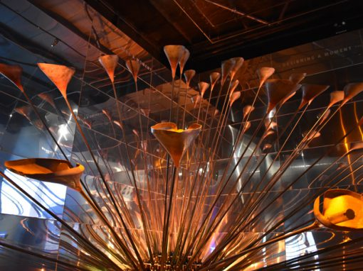 Olympic Cauldron Exhibit Installation, Museum of London
